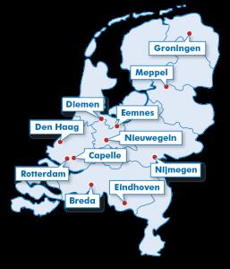 Wiver uitzendbureau voor vakmensen vestigingen in Nederland